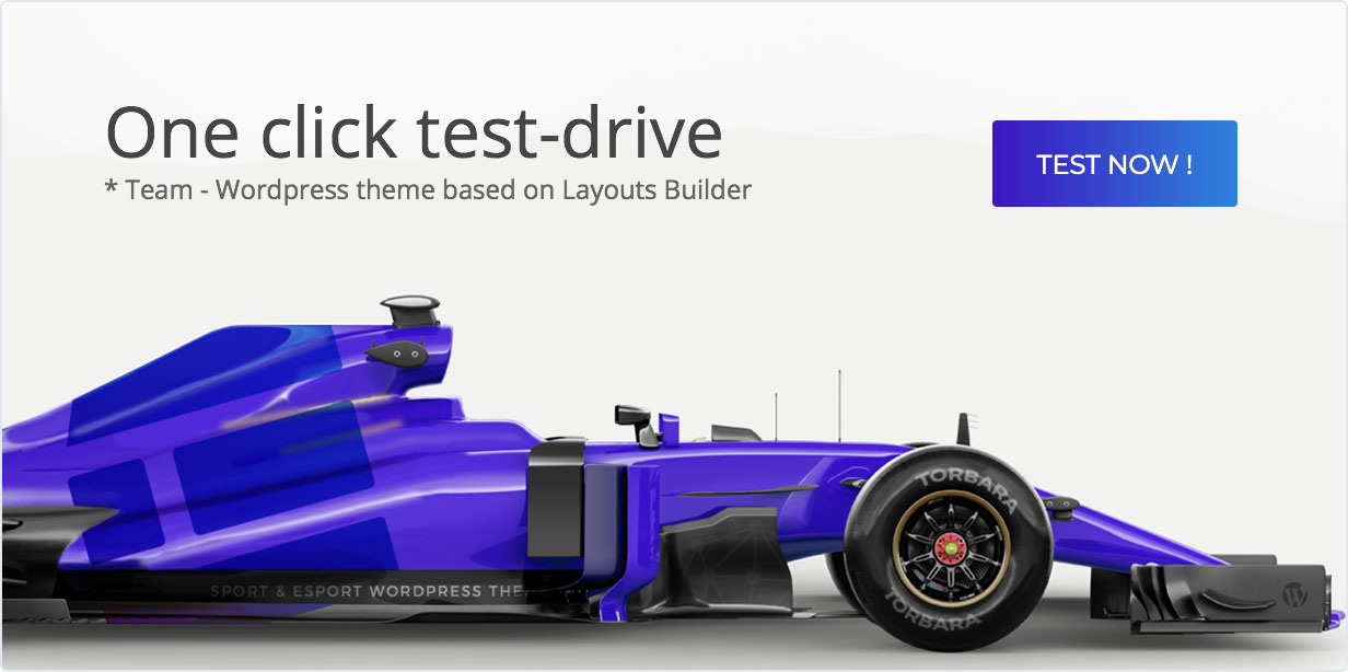 One click test-drive. Team - WordPress theme based on Layouts Builder, test now!