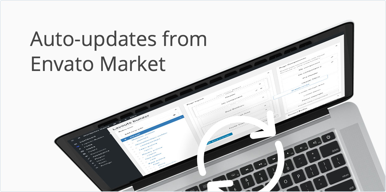 Auto-updates from envato Market.