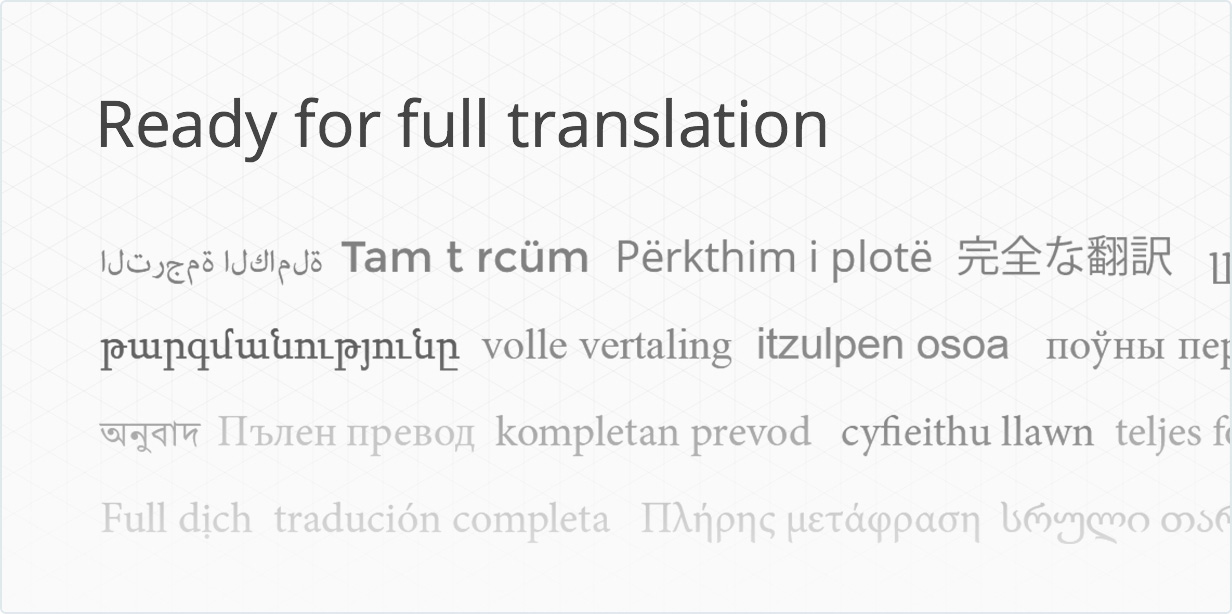 Fully ready for translation