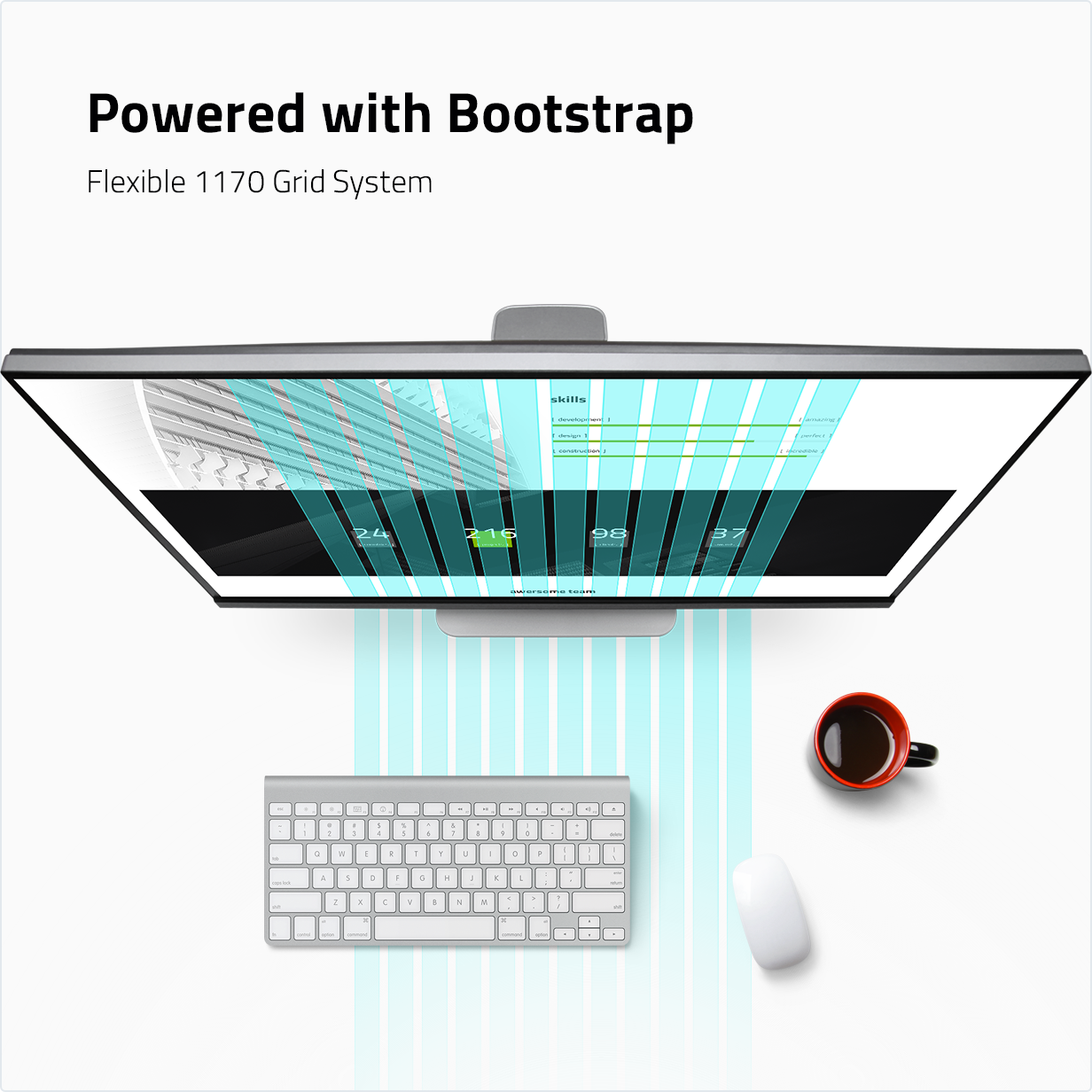 Powered with Bootstrap