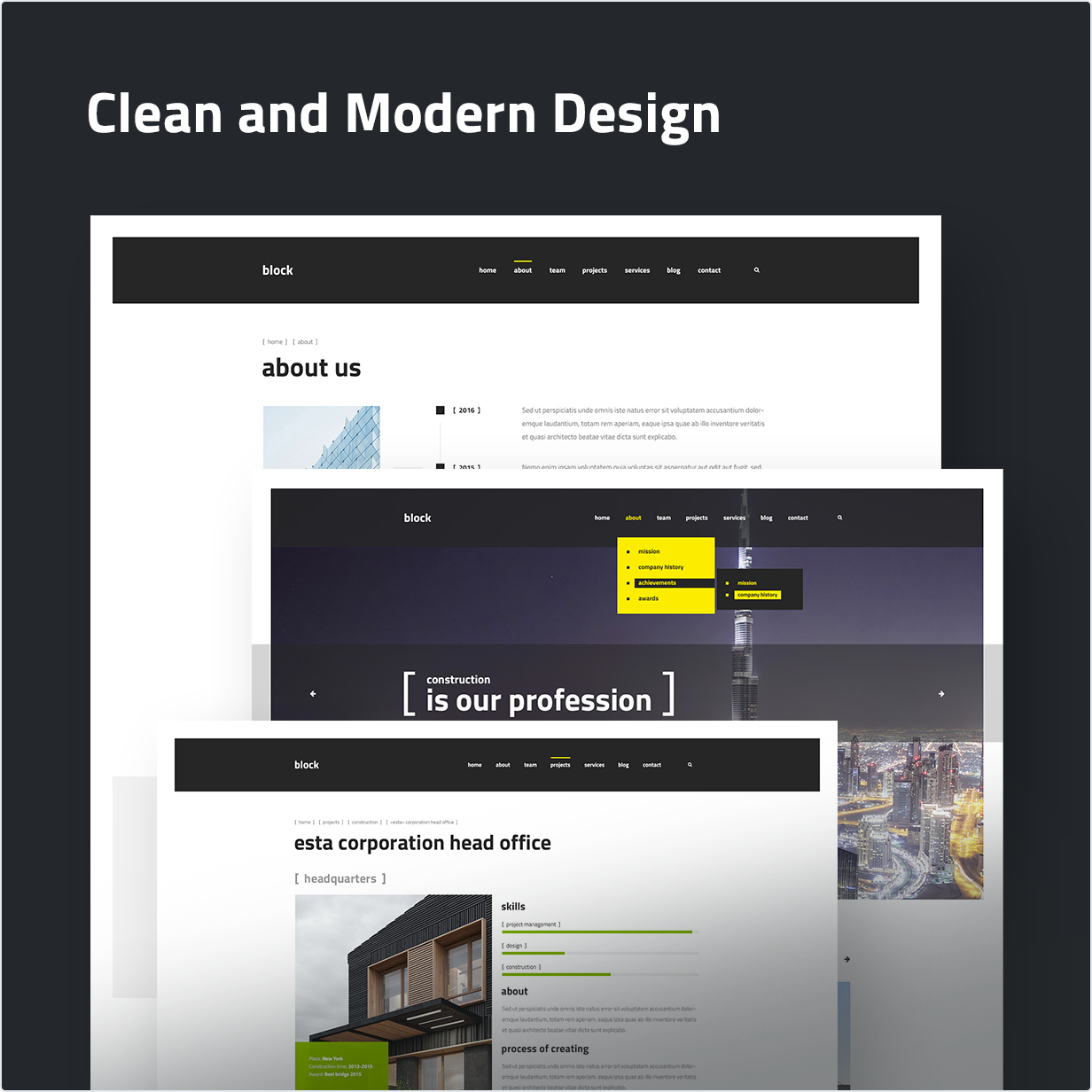 Clean and Modern Design