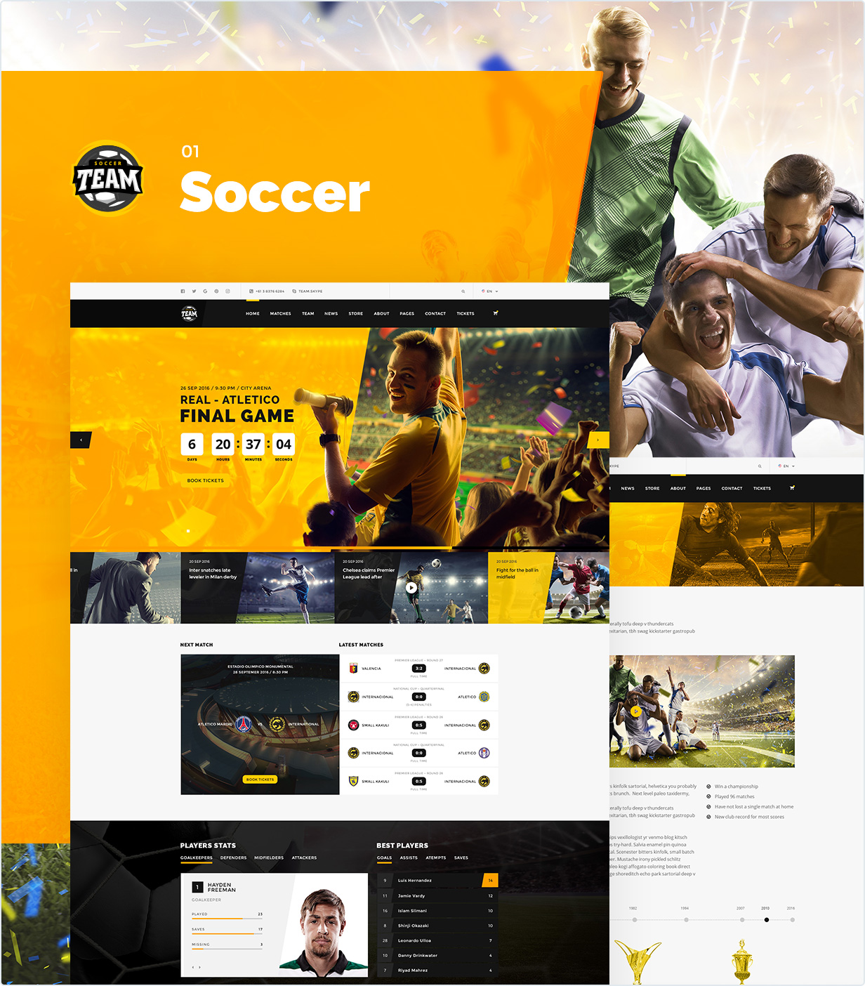 Team Sport And Esport Club Psd Template Entertainment