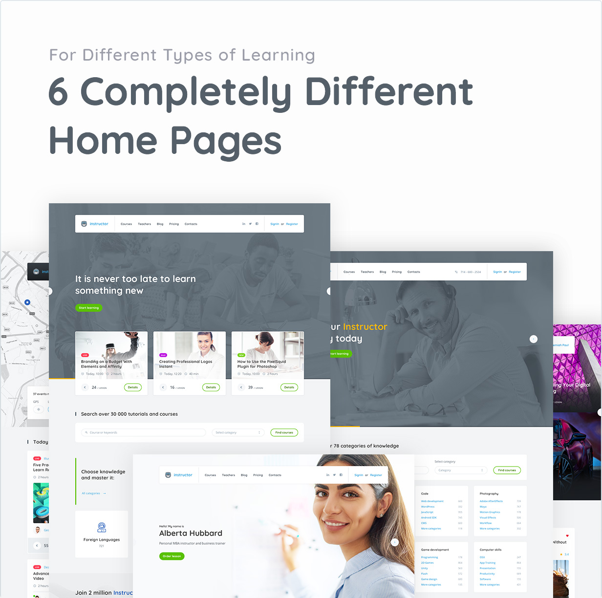 For Different Types of Learning 6 Completely Different Home Pages