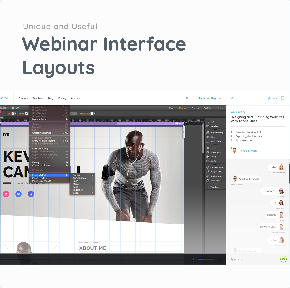 Webinar Interface Layouts