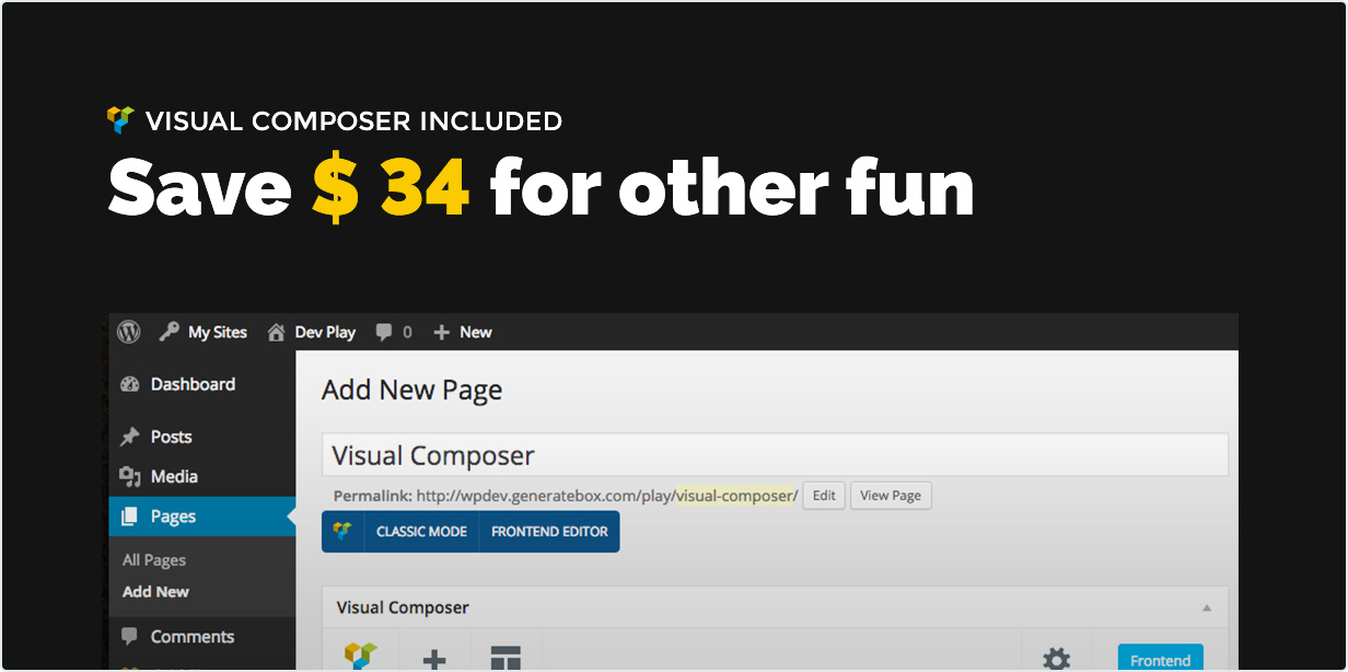 Visual composer included. Save $34 for other fun