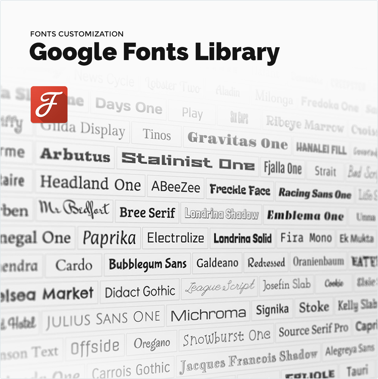 Google fonts library