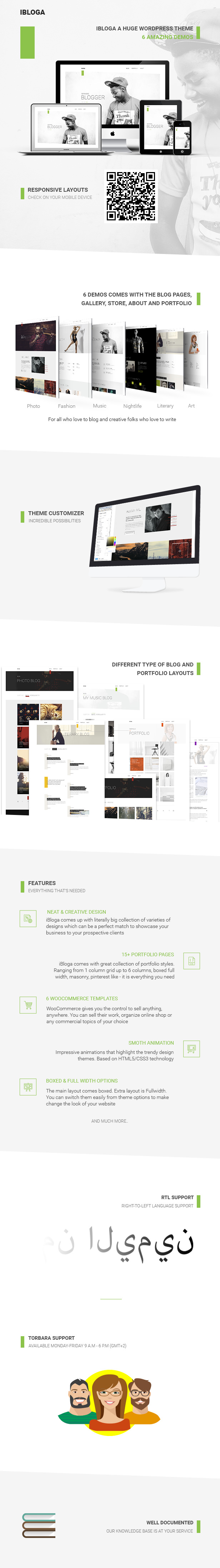 iBloga — Photo, Fashion, Music, Nightlife, Literary & Art Professional Blog Template - 1